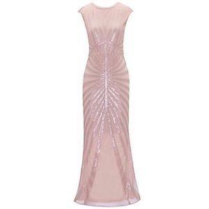 1920s Long Sequin Flapper Gown
